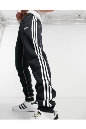 adidas 3-Stripes contrast stitch sweatpants in