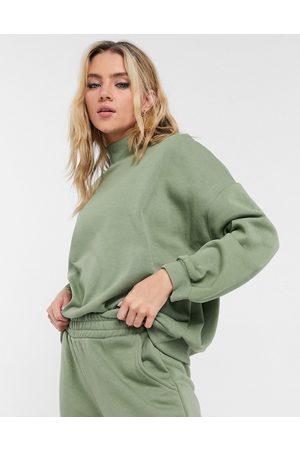 Chelsea Peers Eco jersey oversized lounge sweatshirt in sage