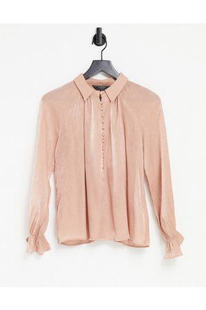 Lipsy London Textured satin blouse in