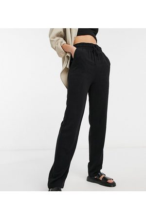 ASOS ASOS DESIGN Tall linen relaxed tapered pants in