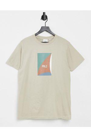 Parlez Marieholm printed t-shirt in sand-Stone
