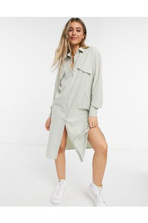 Lola May Maxi shirt dress in mint