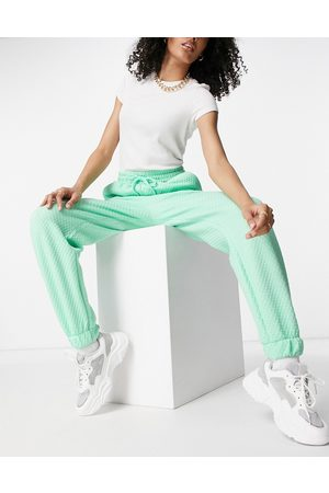 ASOS Mini quilted sweatpants in mint - part of a set-Blues