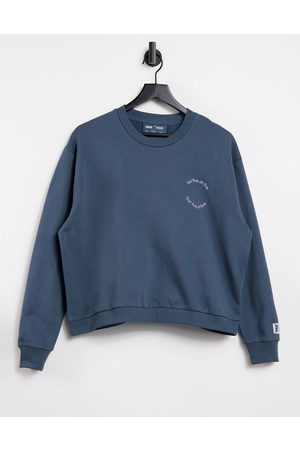 ASOS 4505 sweatshirt with wellness graphic in organic cotton-Grey