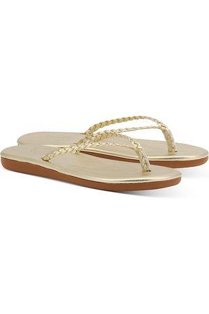 Ancient Greek Sandals Ancient Greek Women's Plage Braided Leather Flip-Flops