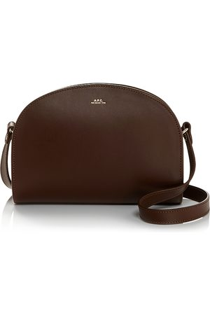 A.P.C. Sac Demi-Lune Leather Crossbody