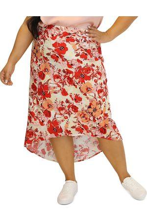 Maree Pour Toi Plus Floral High/Low Skirt