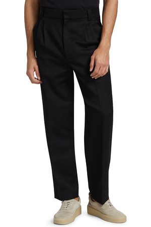 FEAR OF GOD Men Formal Pants - Men's Double Pleated Tapered Trousers - - Size 38