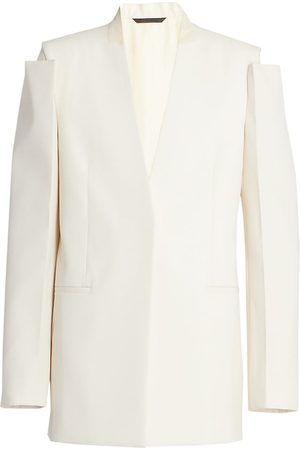 Givenchy Women's Glove-Sleeve Tailored Jacket - Clay - Size 8