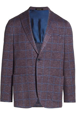 Saks Fifth Avenue Men's COLLECTION Plaid Sportcoat - Dusty Rose - Size 38