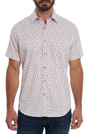 Robert Graham Men's Welnick Short-Sleeve Button-Up Shirt - Size Medium
