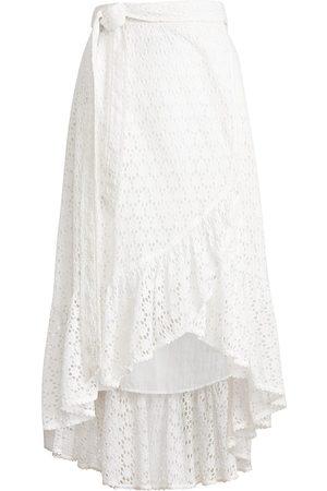 Polo Ralph Lauren Women's Eyelet Midi Wrap Skirt - - Size 12