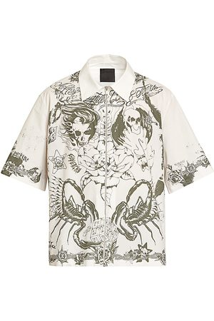 Givenchy Men's Short-Sleeve Graphic Print Shirt - - Size 15.75