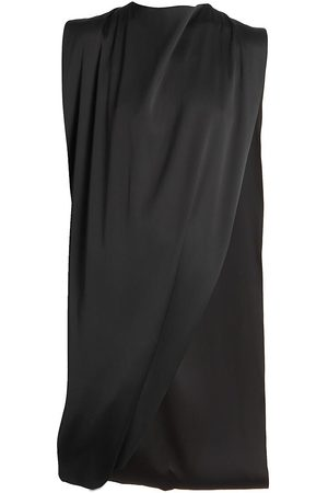 Givenchy Women's Draped Asymmetric Satin Top - - Size 2