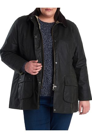 Barbour, Plus Size Women's Must Haves Beadnell Wax Jacket - Sage - Size XXXL