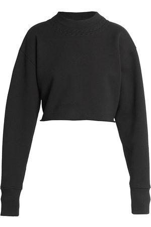 Givenchy Women's Cropped Sweatshirt - - Size XL