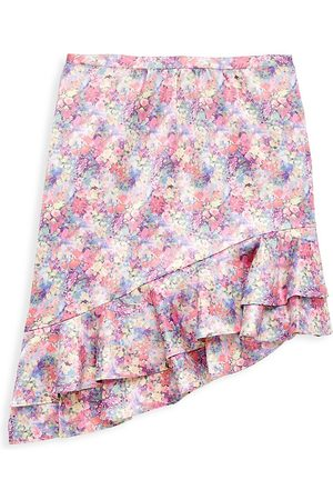 Marchesa Notte Girl's Asymmetrical Ruffle Skirt - Multi - Size 14
