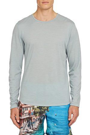 Orlebar Brown Men's OB-T Long-Sleeve Merino T-Shirt - Mineral - Size Large