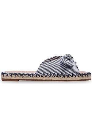 Kate Spade Women's Striped Jute Slides - Parchment - Size 8 Sandals