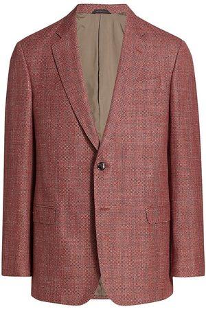 Armani Men's Virgin Wool-Blend Blazer - Coral - Size 46