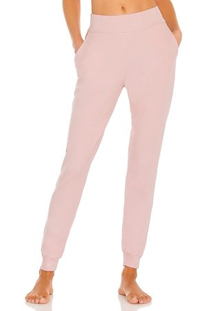 Commando X REVOLVE Luxury Rib Jogger in Blush.