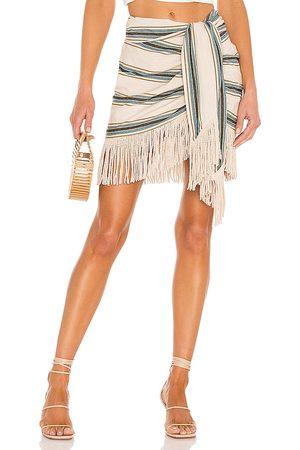 Just BEE Queen Charlie Mini Skirt in Tan.