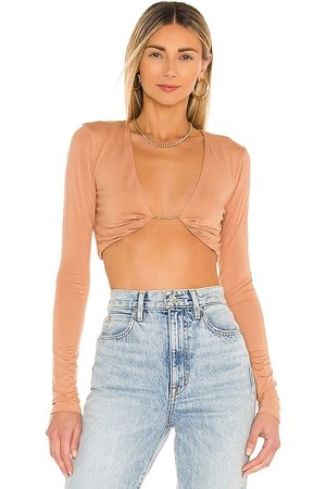 h:ours Anton Crop Top in Nude.