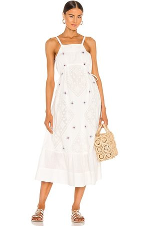 Free People Dewdrop Maxi Dress in Ivory.