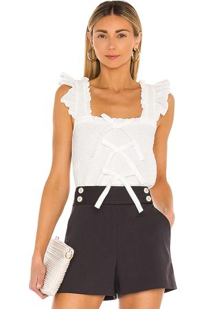 Cinq A Sept Dorthy Top in Ivory.