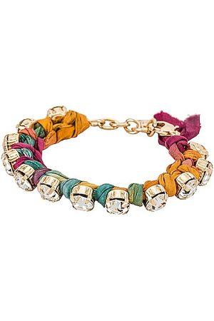 Dannijo Portia Miel Bracelet in Metallic .