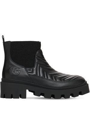 Gucci 25mm Matelasse' Leather Chelsea Boots