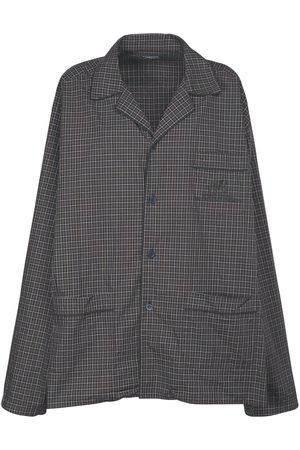 Balenciaga Organic Cotton Poplin Pajama Shirt
