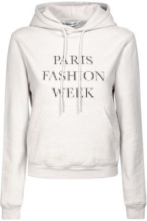 Balenciaga Printed Organic Cotton Jersey Hoodie