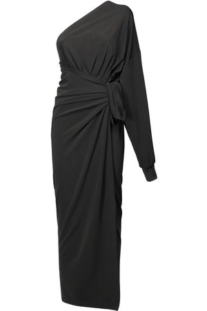 Balenciaga Women Casual Dresses - Viscose Jersey One-shoulder Wrap Dress