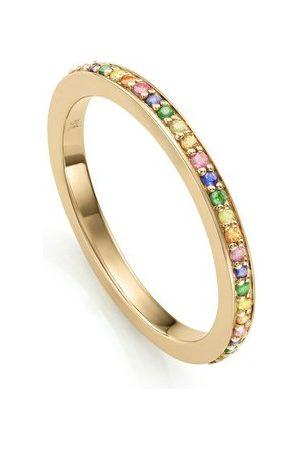 Monica Vinader Women Rings - Gold NHS Skinny Sapphire Eternity Ring Mix