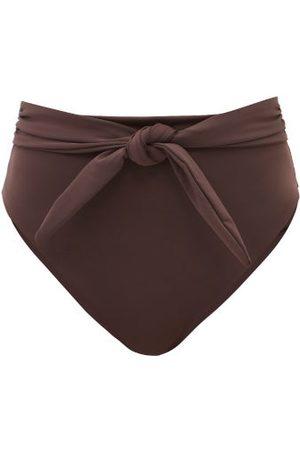 Mara Hoffman Women Bikinis - Goldie High-rise Recycled-fibre Bikini Briefs - Womens - Dark