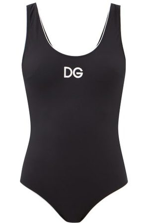 Dolce & Gabbana Logo-embroidered Scoop-back Swimsuit - Womens