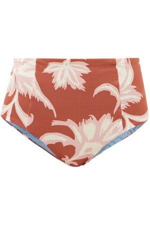 Cala De La Cruz Women Bikinis - Aranxza High-rise Floral-print Bikini Briefs - Womens - Print