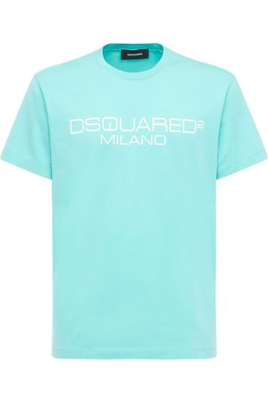 Dsquared2 Men T-shirts - Printed Cool Fit Cotton Jersey T-shirt