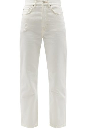 Acne Studios Mece High-rise Cropped Straight-leg Jeans - Womens - Ivory