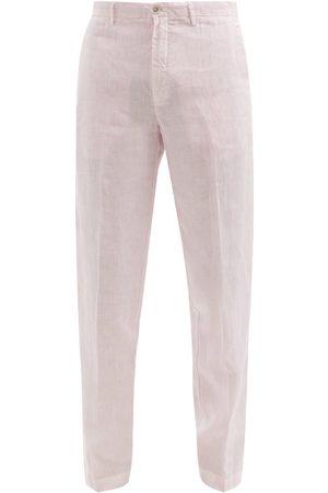 120% Lino 120% Lino - Slim-leg Linen-calico Suit Trousers - Mens