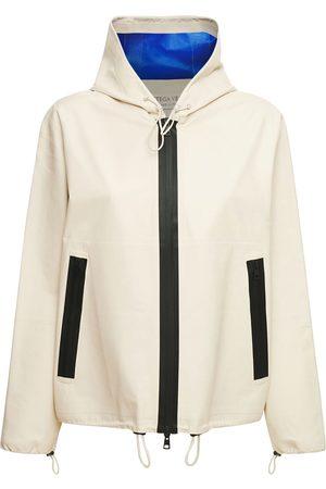 Bottega Veneta Hooded Zip-up Leather Jacket