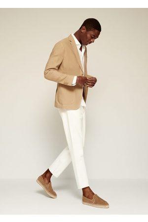 MANGO 100% linen slim fit blazer