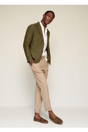 MANGO Men Blazers - 100% linen slim fit blazer