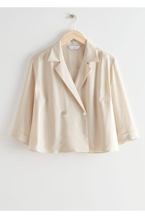 & OTHER STORIES Women Blouses - Cropped Boxy Double Breasted Blouse