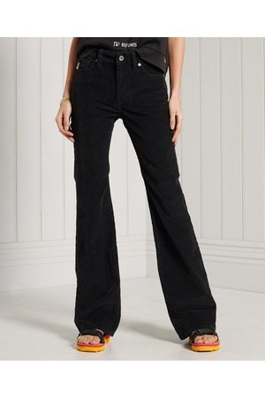 Superdry Women Slim - Mid Rise Slim Cord Flare Jeans