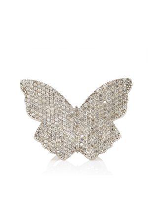 SHERYL LOWE Women's Large Butterfly Sterling Silver Diamond Ring - - Moda Operandi
