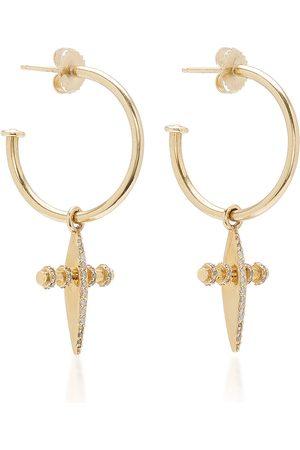 SHERYL LOWE Women Earrings - Women's 14K Diamond Hoop Earrings - - Moda Operandi