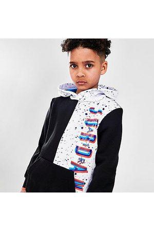 Nike Boys Hoodies - Jordan Boys' Little Kids' Space Glitch Colorblock Pullover Hoodie Size 4 Fleece/Knit
