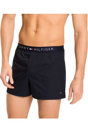 Tommy Hilfiger Cotton Woven Boxer Icon M Navy Blazer-Pt